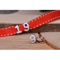 """Μεταλλικός Αριθμός """"9"""" Σμάλτο Λευκό 15mm 10τεμ. MI1594-9"""