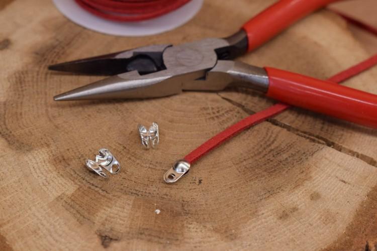 Τελείωμα για Κορδόνι/Αλυσίδα Ασημένιο 3,2mm 50τεμ. MI3414-A232S
