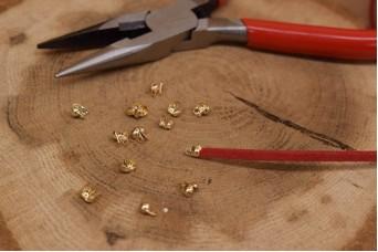 Τελείωμα για Κορδόνι/Αλυσίδα Χρυσό 2mm 50τεμ. MI3414-A234G