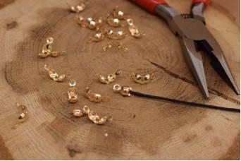 Τελείωμα για Κορδόνι Χρυσό 11mm 50τεμ. MI3423-A105G