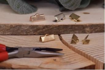 Τελείωμα για Κορδόνι/Κορδέλα Χρυσό 16mm 20τεμ. MI3423-A130G