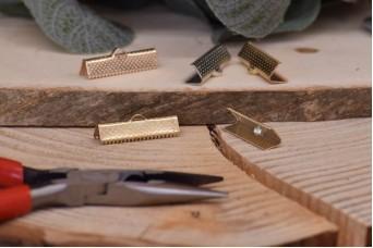 Τελείωμα για Κορδόνι/Κορδέλα Χρυσό 25mm 10τεμ. MI3423-A132G