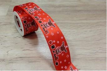 Κορδέλα Χριστουγεννιάτικη Τάρανδος 3m R8792-2