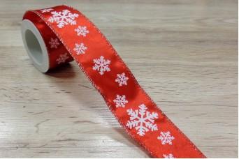 Κορδέλα Χριστουγεννιάτικη Νιφάδα 3m R8792-4