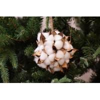 Μπάλα Κρεμαστή με Άνθη Βαμβακιού 10cm AF2303