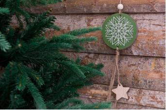 Χριστουγεννιάτικο Κρεμαστό Boho Νιφάδα με Αστέρια CD155512-2