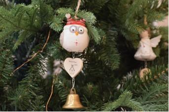 Χριστουγεννιάτικη Κρεμαστή Κουκουβάγια CD5011