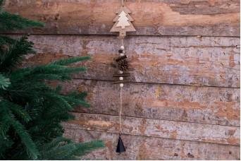 Χριστουγεννιάτικο Κρεμαστό Διακοσμητικό Έλατο-Κουκουνάρι CD7755T