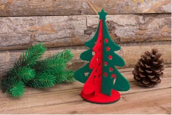 Χριστουγεννιάτικο Δέντρο Τσόχας Δίχρωμο 22cm FL0076-22