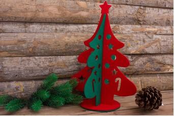 Χριστουγεννιάτικο Δέντρο Τσόχας Δίχρωμο 39cm FL0076-39