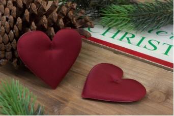 Υφασμάτινη Καρδιά 10τεμ Κόκκινη 8cm UHR8-08464-26