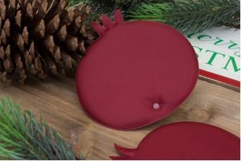 Υφασμάτινο Ρόδι 5τεμ Κόκκινο 12cm UPG12-08464-26