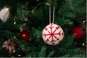 Χριστουγεννιάτικες Μπάλες Felt Νιφάδα CD7620