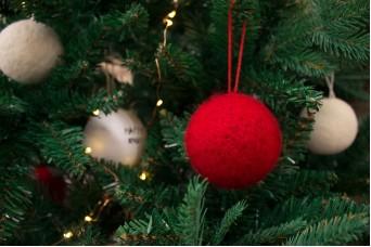 Χριστουγεννιάτικες Μπάλες Felt Kόκκινες CD7622R