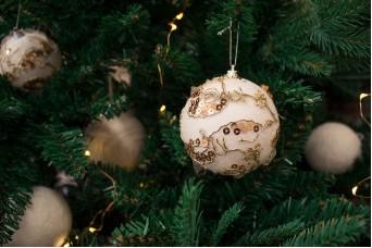 Χριστουγεννιάτικες Μπάλες 3τεμ. με Χρυσές Πούλιες CD7981