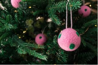 Χριστουγεννιάτικες Μπάλες 4τεμ. Felt Πουά FI7633P