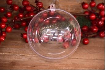 Μπάλα Πλαστική Ανοιγόμενη Extra Clear 12cm PLI3583-12