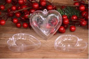 Καρδιά Πλακέ Πλαστική Ανοιγόμενη Extra Clear 8cm PLI3586-8