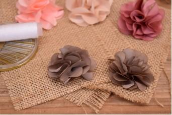 Υφασμάτινα Λουλούδια Βολάν 5,5cm Καφέ FI8184BR