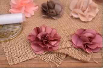Υφασμάτινα Λουλούδια Βολάν 5,5cm Σάπιο Μήλο FI8184DP
