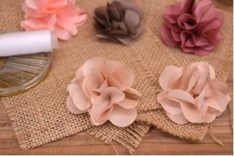 Υφασμάτινα Λουλούδια Βολάν 5,5cm Ιβουάρ FI8184I