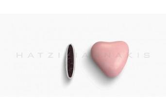 Κουφέτα Καρδιά Χρώμα Κουτί 500g, Ροζ Ανοικτό Γυαλισμένο