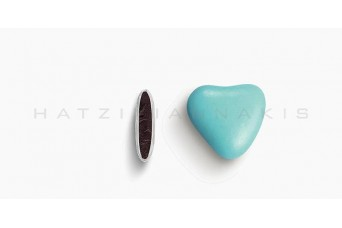 Κουφέτα Καρδιά Χρώμα Κουτί 500g, Σιέλ Ανοικτό Γυαλισμένο