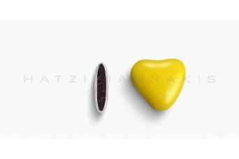 Κουφέτα Καρδιά Χρώμα Κουτί 500g, Κίτρινο Ανοικτό Γυαλισμένο