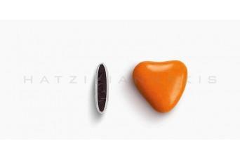 Κουφέτα Καρδιά Χρώμα Κουτί 500g, Πορτοκαλί Ανοικτό Γυαλισμένο