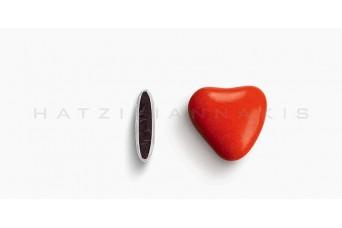 Κουφέτα Καρδιά Χρώμα Κουτί 500g, Κόκκινο Ανοικτό Γυαλισμένο