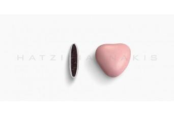 Κουφέτα Καρδιά Μεσαία Χρώμα Κουτί 500g, Ροζ Ανοικτό Γυαλισμένο