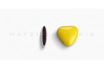 Κουφέτα Καρδιά Μεσαία Χρώμα Κουτί 500g, Κίτρινο Γυαλισμένο