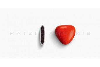 Κουφέτα Καρδιά Μεσαία Χρώμα Κουτί 500g, Κόκκινο Γυαλισμένο