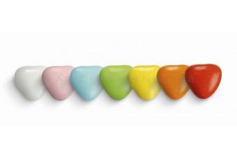 Κουφέτα Καρδιά Μεσαία Πολύχρωμη Κουτί 500g