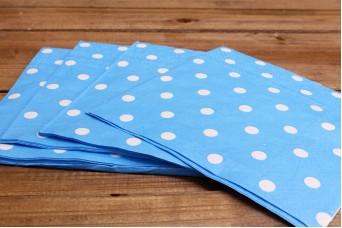 Χαρτοπετσέτες Πουά Μπλε
