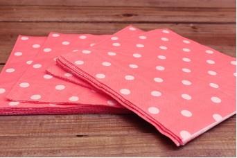 Χαρτοπετσέτες Πουά Ροζ