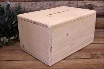 Κουτί Ευχών Ξύλινο Φυσικό