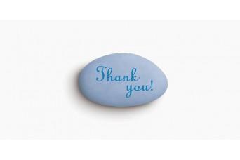 """Κουφέτα Bijoux Supreme """"Προτάσεις"""" """"Thank You"""" Κουτί 1kg, Ίντιγκο Ανοιχτό-Μπλε"""