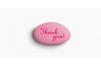 """Κουφέτα Bijoux Supreme """"Προτάσεις"""" """"Thank You"""" Κουτί 1kg, Ροζ Ανοιχτό-Ροζ"""