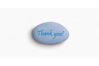 """Κουφέτα Bijoux Supreme """"Προτάσεις"""" """"Thank You"""" Κουτί 1kg, Ίντιγκο Ανοιχτό Μπλε"""