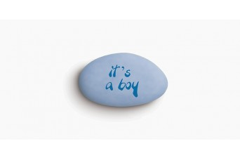 """Κουφέτα Bijoux Supreme """"Προτάσεις"""" """"It's A Boy"""" Κουτί 1kg, Ίντιγκο Ανοιχτό-Μπλε"""