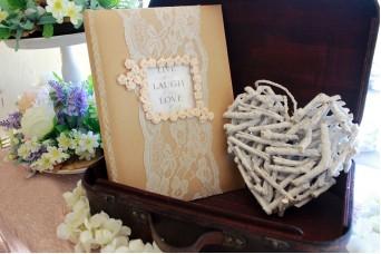 Ξύλινη Καρδιά Κρεμαστή 22cm Λευκή 40698-1W