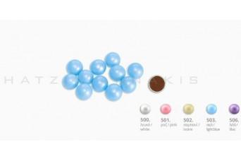 Κουφέτα Choco Balls Μεγάλο Περλέ Κουτί 1kg, Λευκό