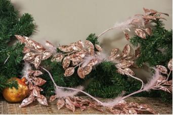 Κλαδί Γιρλάντα 150cm Φυλλαράκια Πούπουλα Παγέτες AF-15563