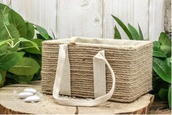 Καλαθάκι Ρυζιού με Σχοινί Παραλληλόγραμμο B0014