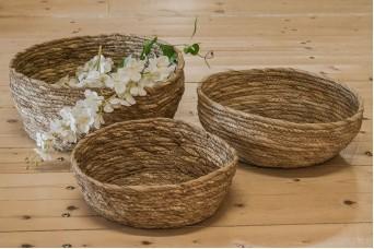Σετ Καλάθια 3τεμ Bamboo Στρογγυλά B2617
