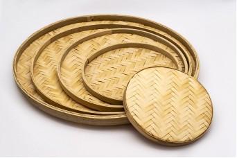 Σετ Δίσκοι 5τεμ Bamboo Στρογγυλοί B5032