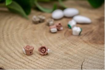 Κεραμικό Λουλουδάκι για Στέφανα Σάπιο Μήλο 10mm 50τεμ. BD2012-2