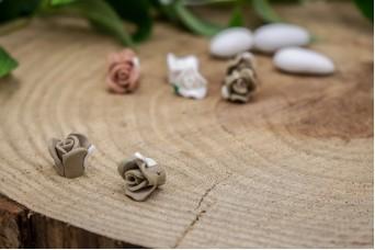 Κεραμικό Λουλουδάκι για Στέφανα Μπεζ 13mm 50τεμ. BD2014-3