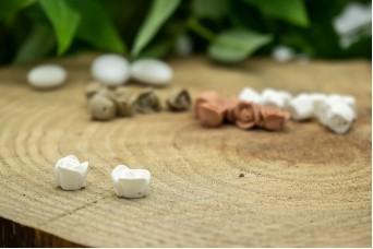 Κεραμικό Λουλουδάκι για Στέφανα Σκέτο Λευκό 10mm 50τεμ. BD2020-1